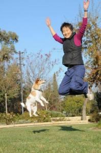 Sophia & Jonesy Jumping